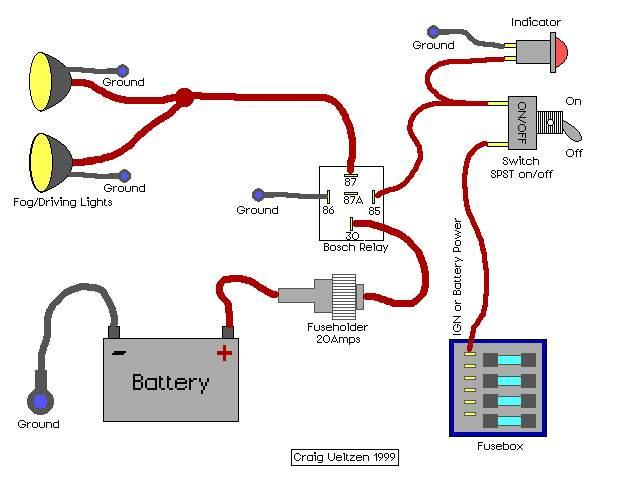 fog lamp relay wiring diagram como poner relay en halogenos 1966 mustang fog lamp switch wiring diagram